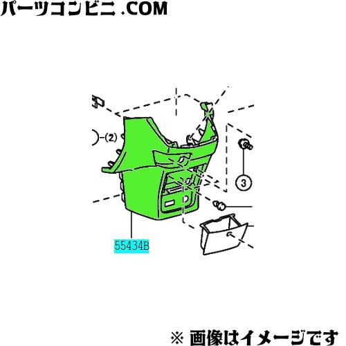 TOYOTA(トヨタ)/純正 インストルメントパネルフィニッシュ パネル LWR CTR (DK.GRAY) 55434-68040-B0 /ウィッシュ