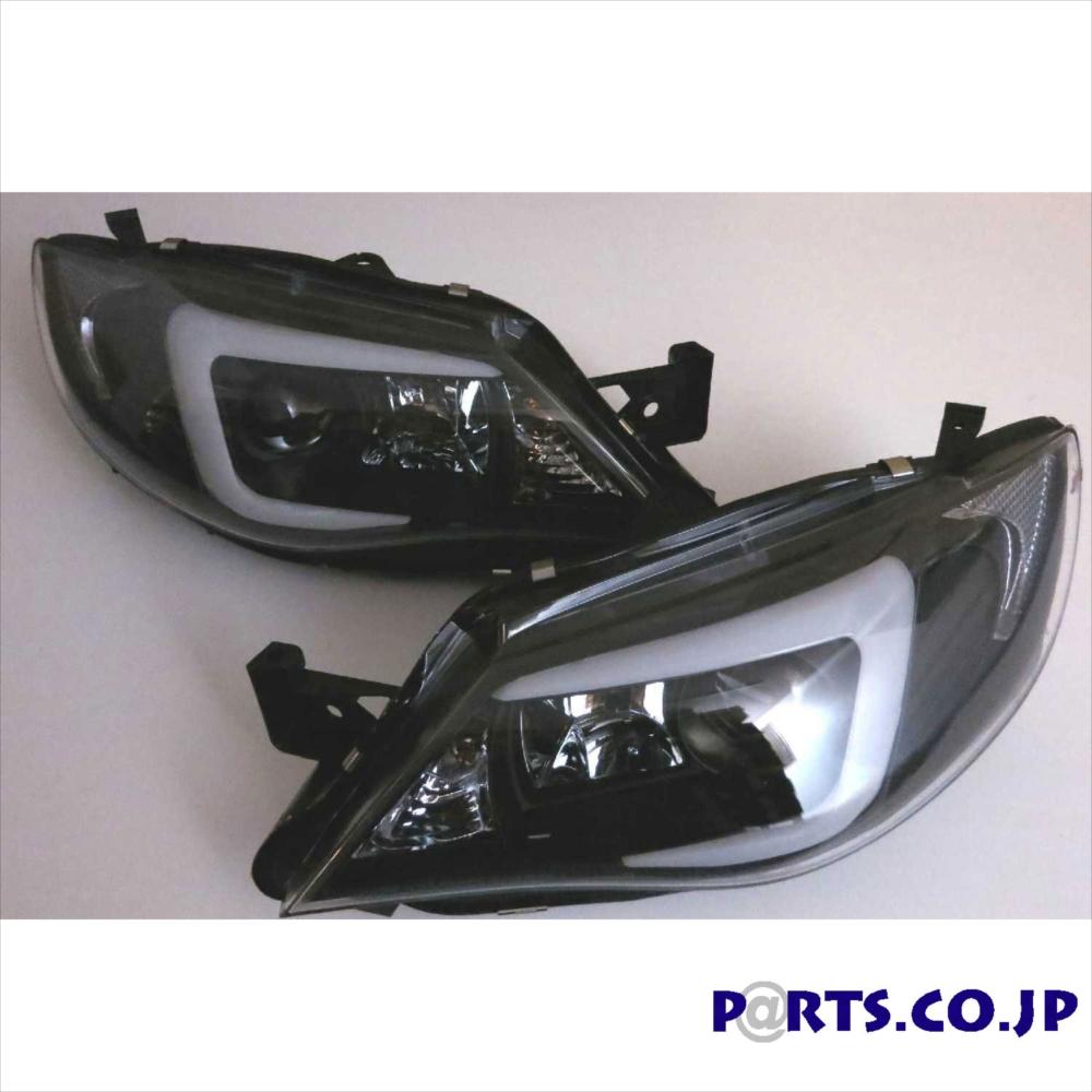 スバル インプレッサ HID車 インナー 08-14 インプレッサ ブラック 4D/5D ヘッドライト プロジェクター SONAR(ソナー) ヘッドライト DRLスタイル GE/GH/GR/GV
