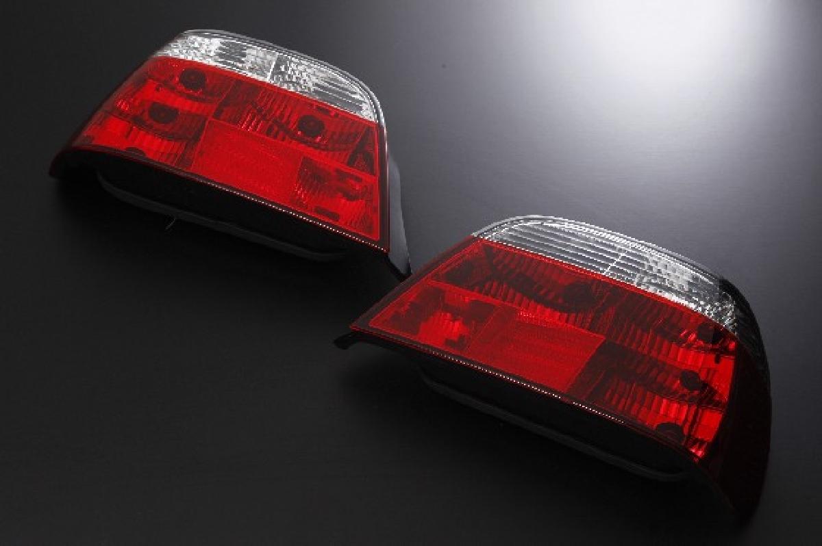 SONAR(ソナー) テールライト BMW 7シリーズ ベーシック テール ランプ クローム インナー レッド&クリスタル レンズ 95-01 BMW E38 7シリーズ