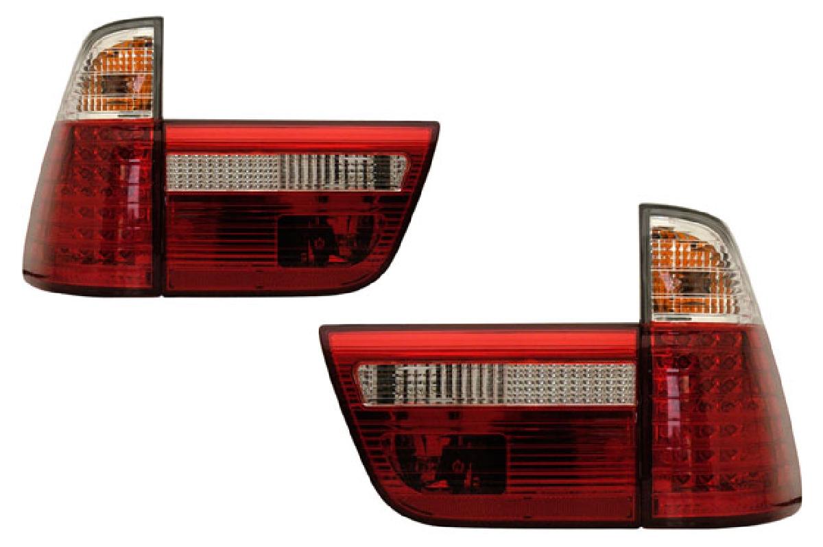 SONAR(ソナー) テールライト BMW X5 LED テール ランプ クローム インナー レッド&クリスタル レンズ 98-03 BMW E53 X5