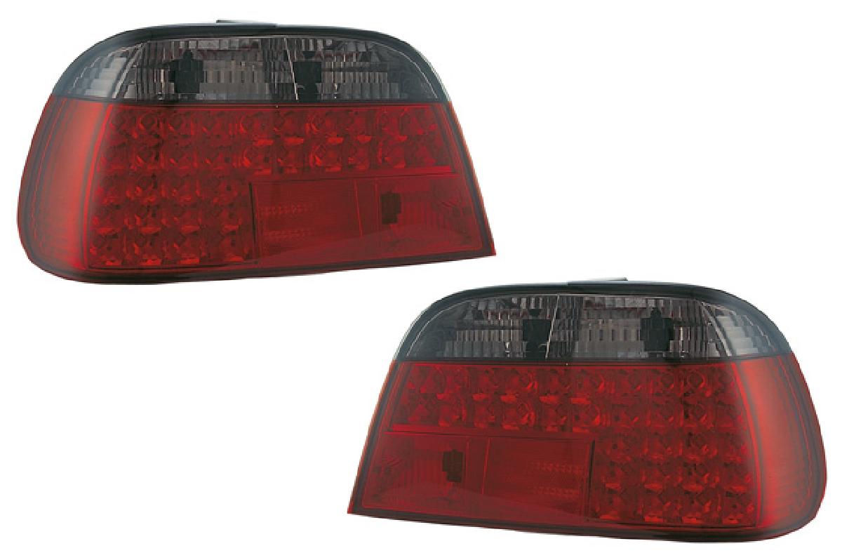 SONAR(ソナー) テールライト BMW 7シリーズ  ●限定特価!●SONAR(ソナー) テールライト BMW 7シリーズ LED テール ランプ クローム インナー レッド&スモーク レンズ 95-01 BMW E38 7シリーズ