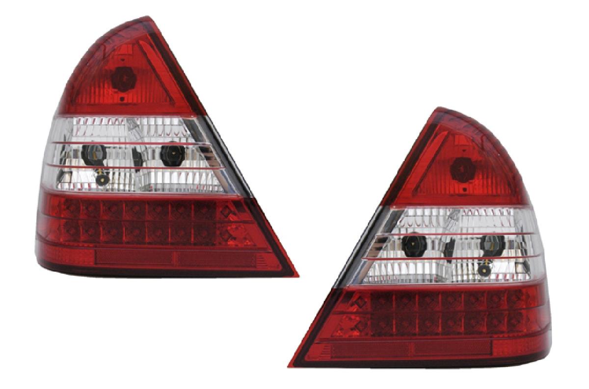 SONAR(ソナー) テールライト メルセデス・ベンツ Cクラス LED テール ランプ クローム インナー レッド&クリスタル レンズ 94-00 Mベンツ W202 Cクラス