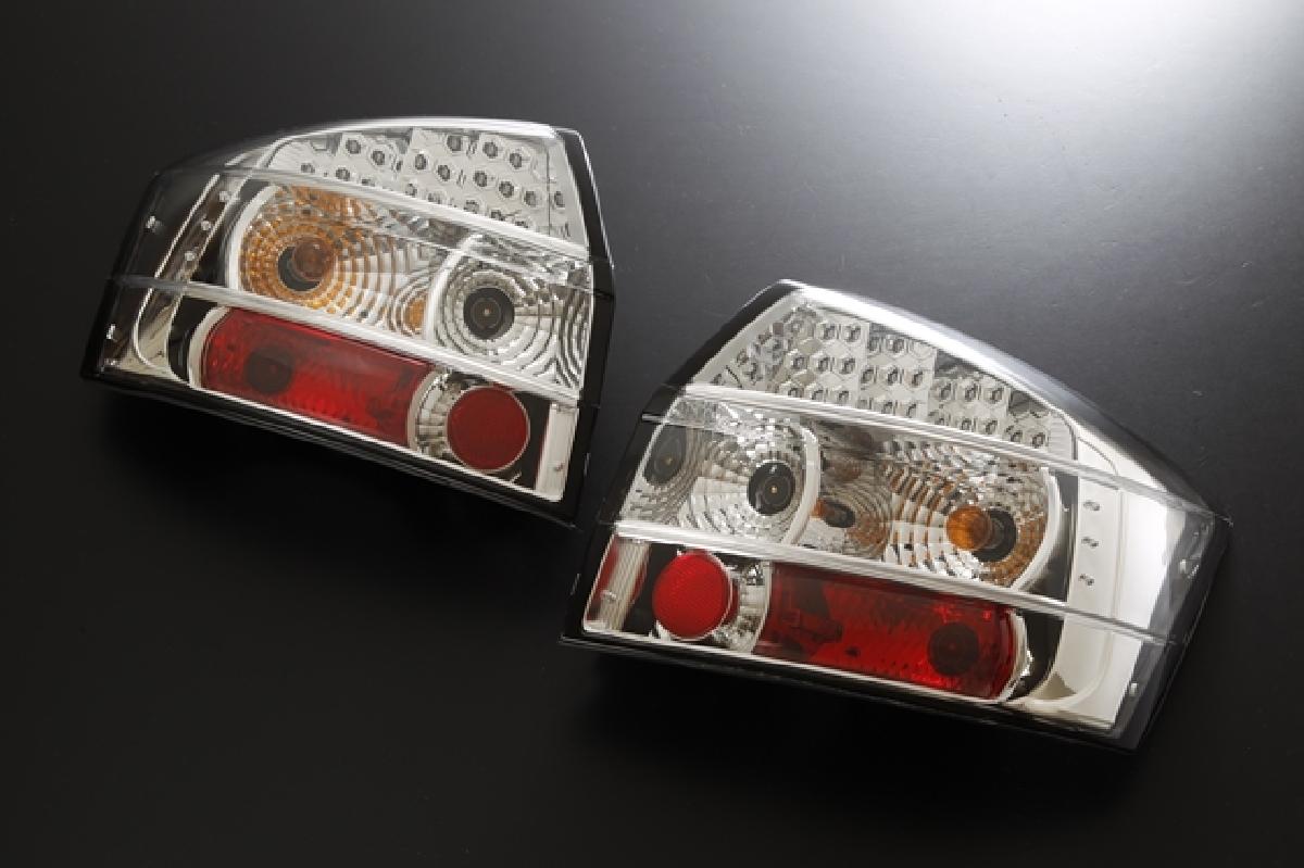 SONAR(ソナー) テールライト アウディ A4 LED テール ランプ クローム インナー クリスタル レンズ 01-02(8E) アウディ A4