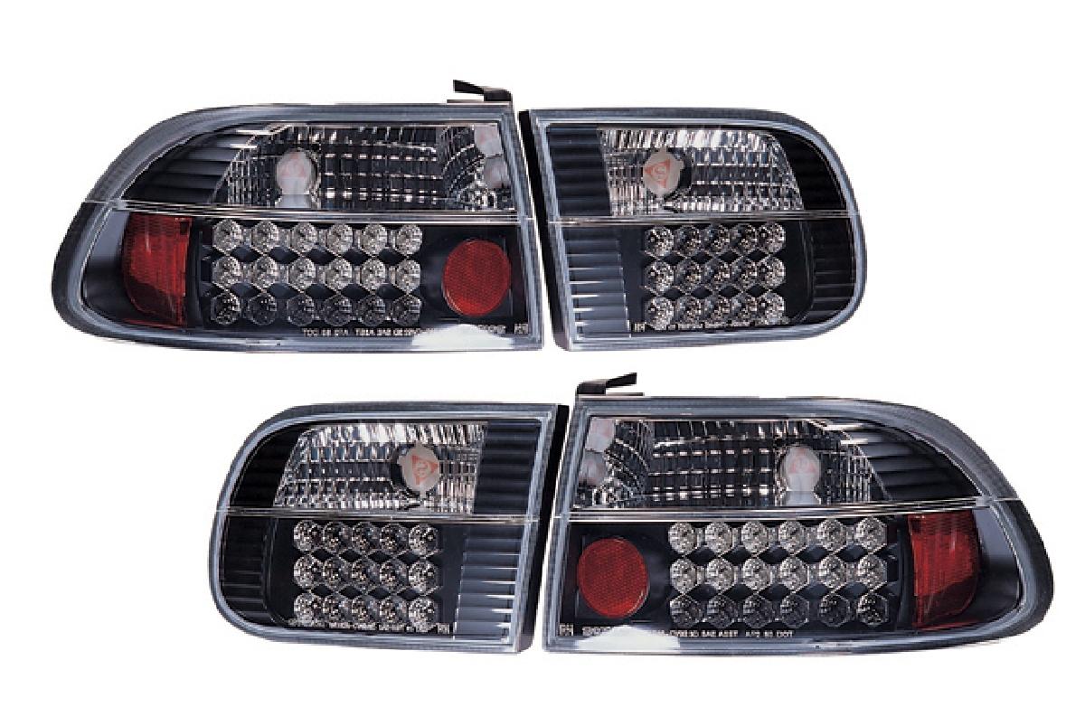 クリスタル シビック LED シビック SONAR(ソナー) レンズ ブラック テールライト テール 3ドア ランプ EG ホンダ インナー