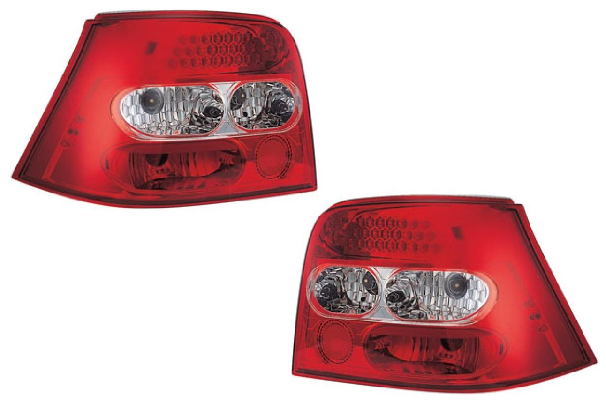 レンズ インナー 98-03 レッド&クリスタル テールライト テール ゴルフ ランプ (1J) クローム ゴルフ4 SONAR(ソナー) フォルクスワーゲン LED VW
