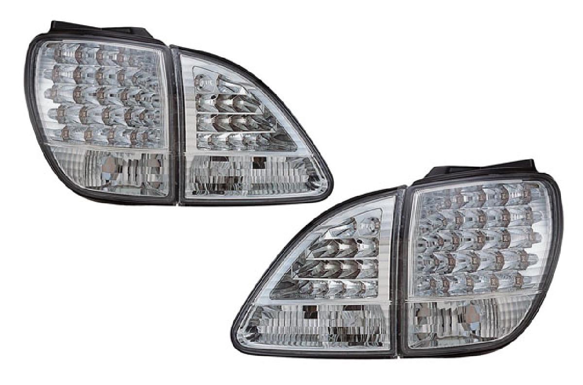 01-03 SONAR(ソナー) クロームインナー・クリスタルレンズ LED 後期 トヨタ ハリアー テールライト ハリアー テールライト 10系