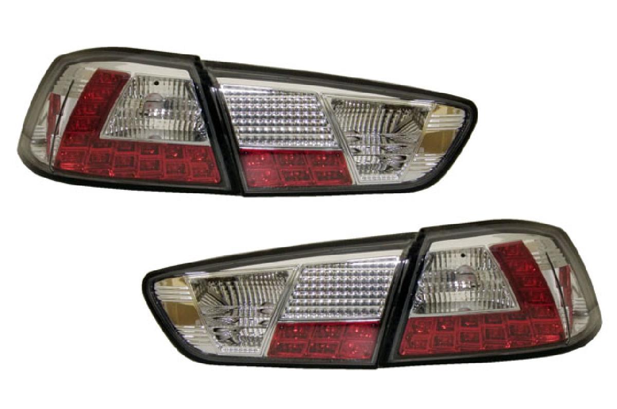 エボX 07-UP LED テール 三菱 ランプ クリスタル テールライト クローム SONAR(ソナー) ランサー レンズ CZ4A ランサー インナー