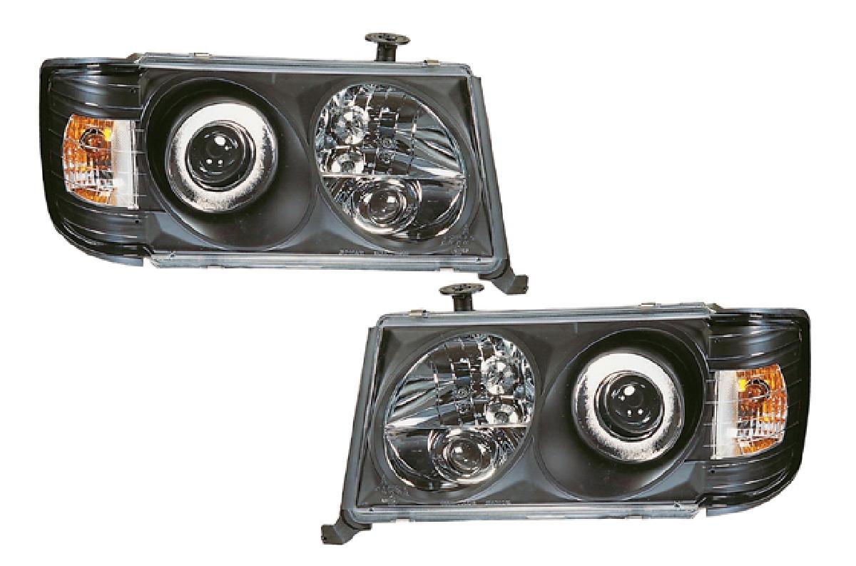 SONAR(ソナー) ヘッドライト メルセデス・ベンツ Eクラス エンジェルアイ プロジェクター ヘッドライト ブラック インナー 85-93 Mベンツ W124 Eクラス