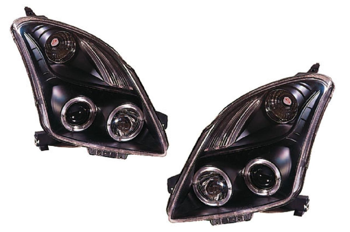 SONAR(ソナー) ヘッドライト スズキ スイフト エンジェルアイ プロジェクター ヘッドライト ブラック インナー ZC/ZD スイフト