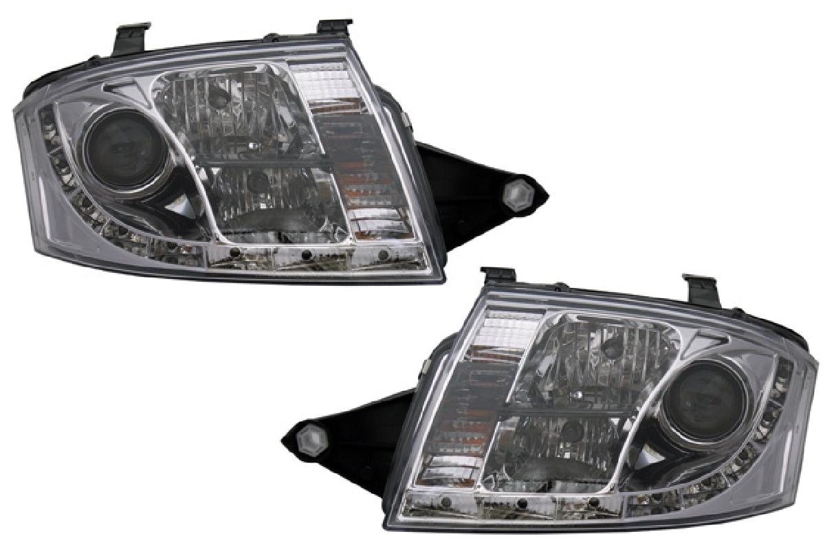 SONAR(ソナー) ヘッドライト アウディ TT DRLスタイル プロジェクター ヘッドライト クローム インナー 99-05 アウディ TT モーター無