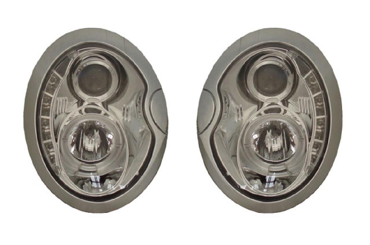 SONAR(ソナー) ヘッドライト BMW ミニ DRLスタイル プロジェクター ヘッドライト クローム インナー 01-08 BMW ミニ (R50/52/53)
