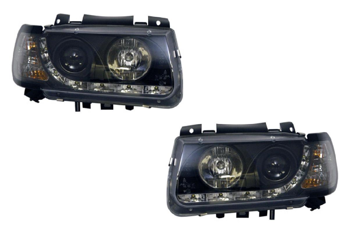 インナー ヘッドライト プロジェクター VW ブラック DRLスタイル ポロ (6N1)前期 96-98 ヘッドライト SONAR(ソナー) フォルクスワーゲン ポロ
