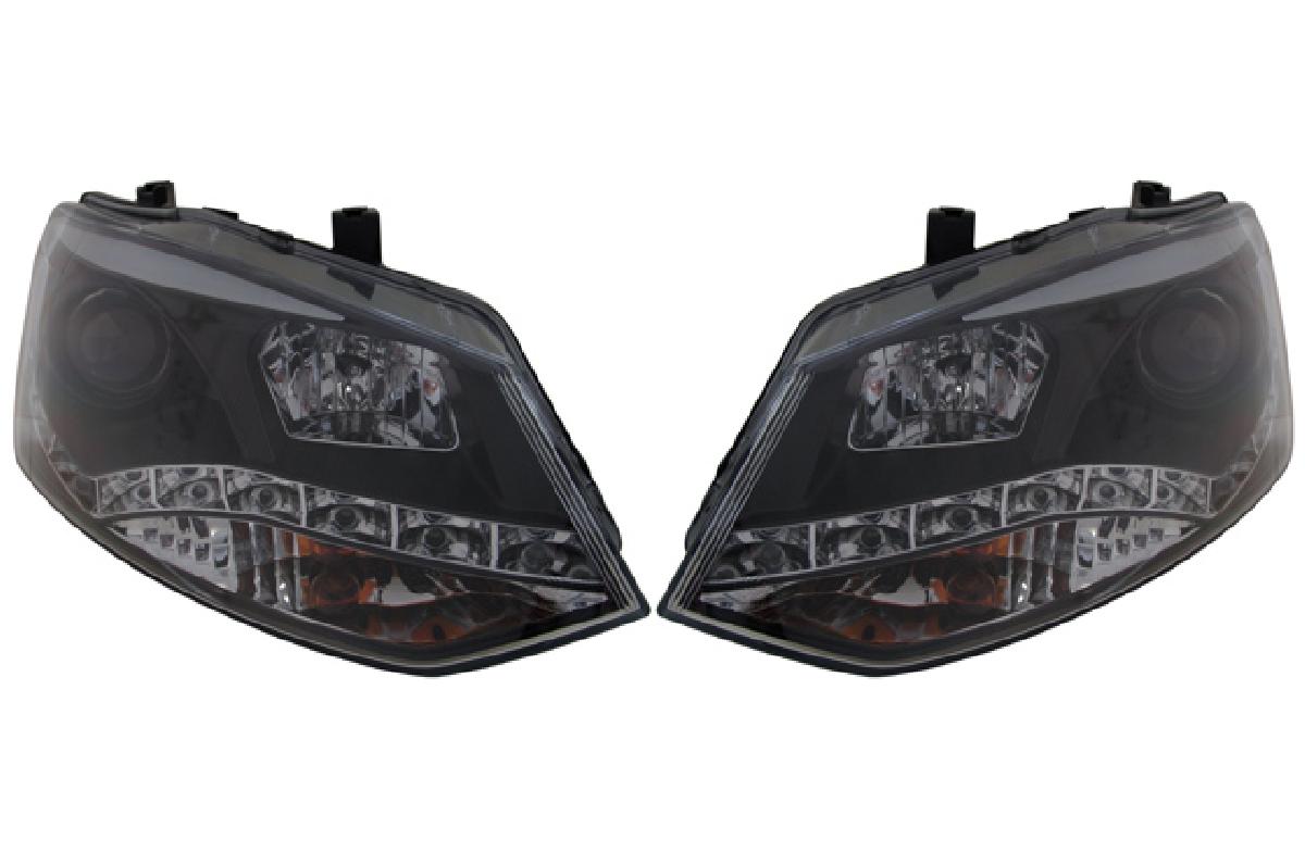 ブラック プロジェクター SONAR(ソナー) フォルクスワーゲン ヘッドライト 10-UP ポロ ヘッドライト ポロ(6R) VW DRLスタイル インナー