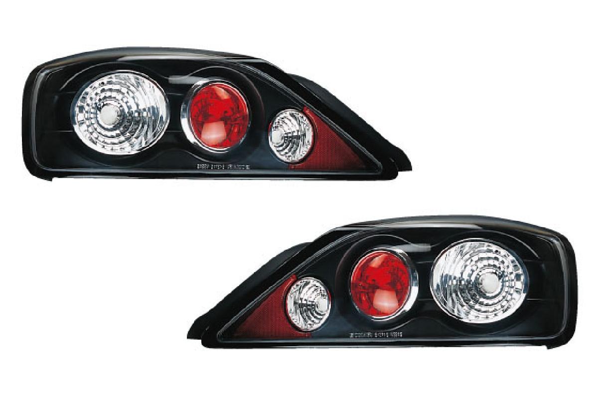 SONAR(ソナー) テールライト 日産 シルビア ユーロ テール ランプ ブラック インナー クリスタル レンズ S15 シルビア