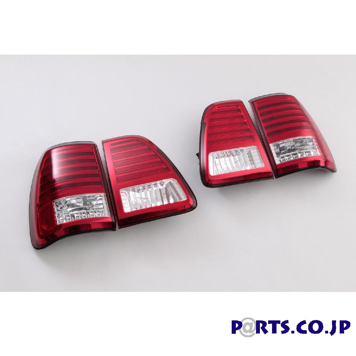 SONAR(ソナー) テールライト トヨタ ランドクルーザー LEDテール レッド/クリア 98-07 100系 ランクル