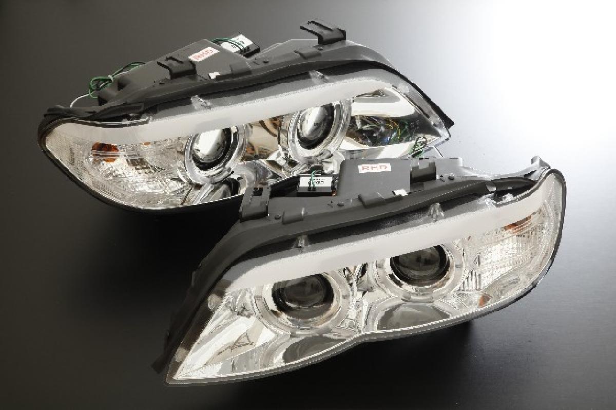 SONAR(ソナー) ヘッドライト BMW X5 CCFL Wプロジェクター ヘッドライト HID インナー クローム E53 X-5 後期