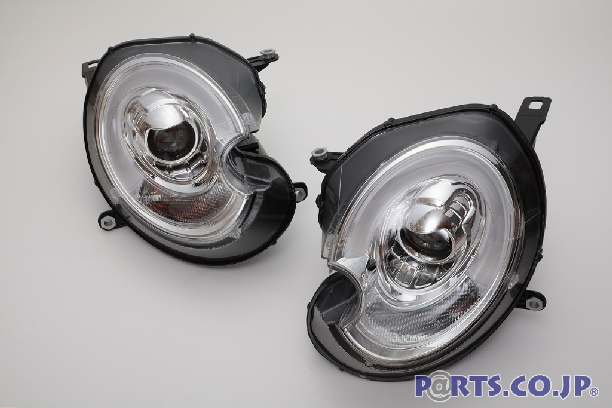 SONAR(ソナー) ヘッドライト BMW ミニ LED ホワイトライトバーDRLスタイル プロジェクター ヘッドライト クロームインナー 06~12 BMW MINI R55/R56 HIDヘッドライト車