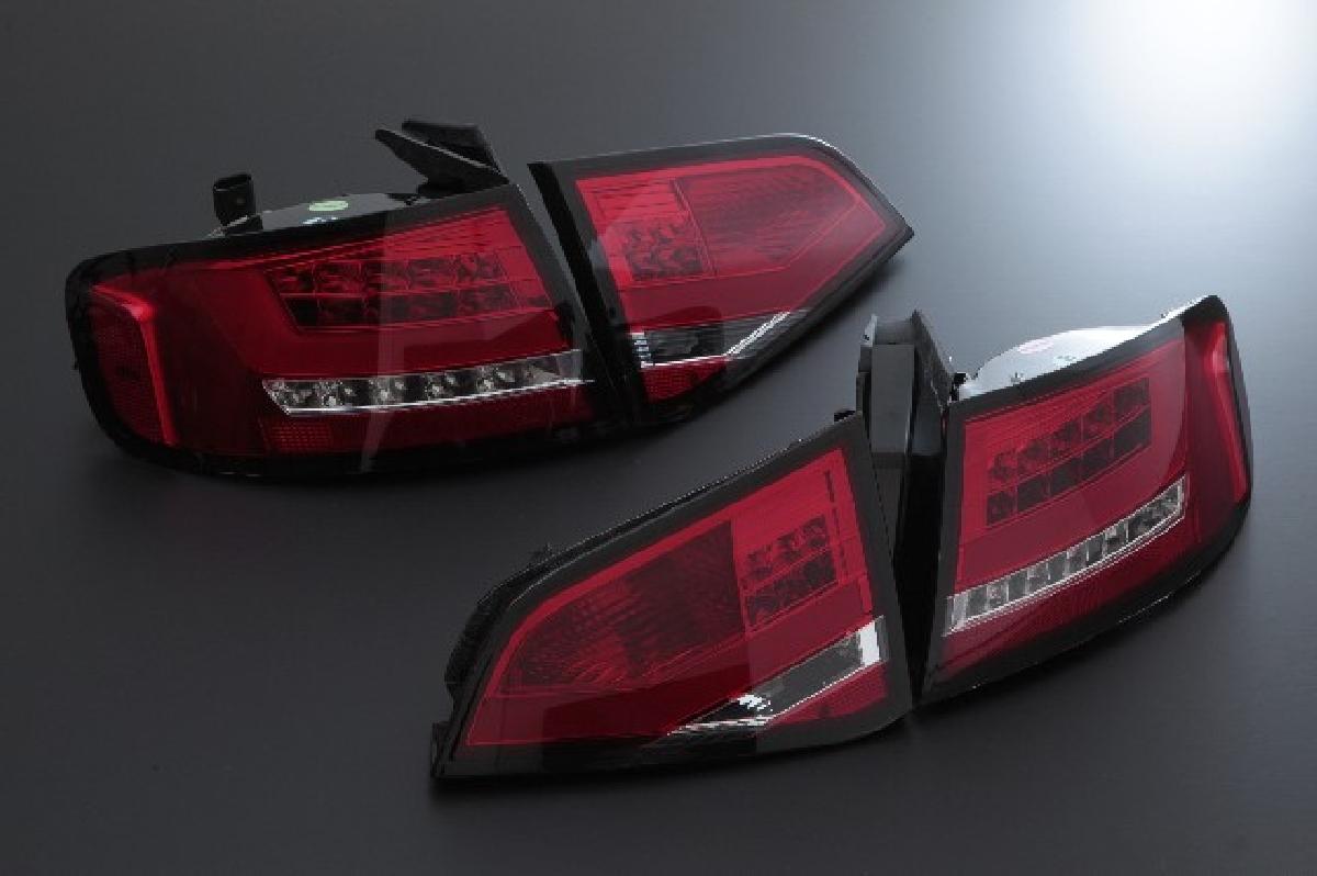 SONAR(ソナー) テールライト アウディ A4  ●限定特価!●SONAR(ソナー) テールライト アウディ A4 LED ライトバー テール レンズ レッドクリスタル 08-12 AUDI A4 セダン B8系