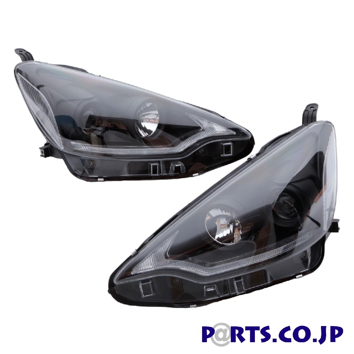 アクア ヘッドランプ アクア ブラック 12~17 DRLプロジェクターヘッドライト ハロゲン車 前期 SONAR(ソナー) トヨタ