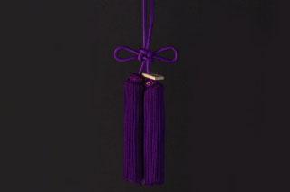 JUNCTION PRODUCE(ジャンクションプロデュース) ふさ 揚巻結び 紫 大(全長約46cm)