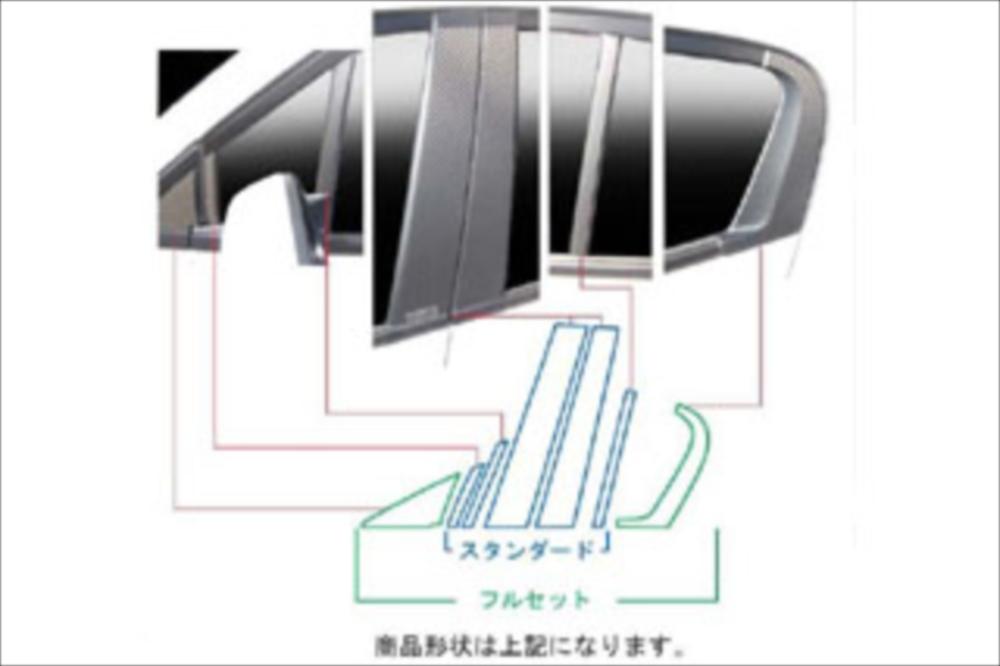 ホンダ フリード マジカルカーボン ピラーセット フルセット(バイザーカットタイプ) レッド GB3/4 フリード(2008/5~)