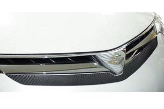 トヨタ エスティマ マジカルカーボン フロントグリルガーニッシュ シルバー ACR/GSR 50系 エスティマ(2006/1~2015/5)