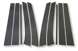 メルセデス・ベンツ Eクラスステーションワゴン マジカルカーボン ピラーセット ブラック W211 Eクラス ワゴン メルセデス・ベンツ(2003/8~)