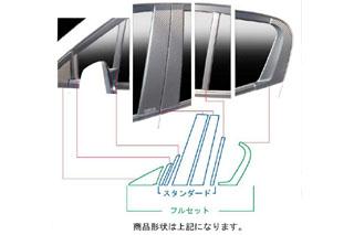 ホンダ インサイト マジカルカーボン ピラーセット レッド ZE2 インサイト(2009/2~)