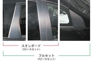 ホンダ フィット マジカルカーボン ピラーセット フルセット ブラック GE6~9 フィット(2007/10~2010/9)