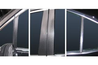 レクサス HS マジカルカーボン ピラーセット ブラック ANF10 HS250H レクサス(2009/7~)