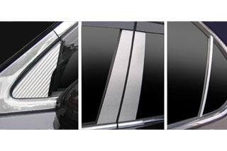 レクサス LS マジカルカーボン ピラーセット バイザーカットタイプ レッド USF40系 LS460 レクサス(2006/9~)