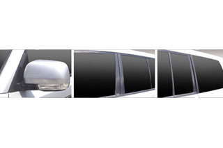 三菱 パジェロ マジカルカーボン ピラーセット ガンメタ V93W/V97W パジェロ(2006/10~2008/10)