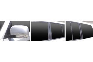 三菱 パジェロ マジカルカーボン ピラーセット シルバー V93W/V97W パジェロ(2006/10~2008/10)