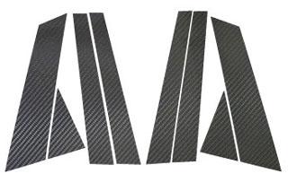 日産 プリメーラ マジカルカーボン ピラーセット ブラック P12系 プリメーラワゴン(2001/1~2005/12)