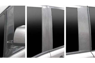 営業 HASEPRO ハセ プロ 日産 通販 セレナ ピラーセット マットブラック マジカルカーボン 5~ バイザーカットタイプ 2005 C25