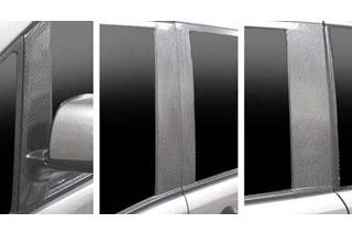 日産 セレナ マジカルカーボン ピラーセット バイザーカットタイプ シルバー C25 セレナ(2005/5~)