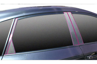 スバル インプレッサ マジカルカーボン ピラーセット ピンク GRB インプレッサWRX-STi(2007/6~)