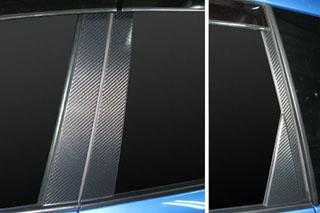 スバル エクシーガ マジカルカーボン ピラーセット バイザーカットタイプ ブラック YA4/5 エクシーガ(2008/6~)
