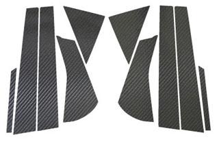 スズキ セルボ マジカルカーボン ピラーセット シルバー HG21S セルボ(2006/11~)