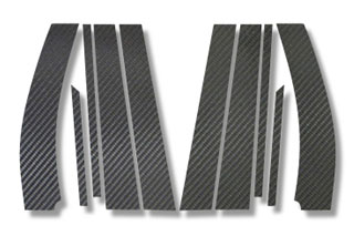 スズキ ワゴンR マジカルカーボン ピラーセット シルバー MH23SWS ワゴンRスティングレイ(2008/9~)