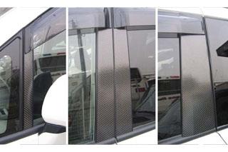 トヨタ ヴォクシー/ノア マジカルカーボン ピラーセット ノーマルカットタイプ ガンメタ ZRR70系 ノア(2007/6~2010/3)