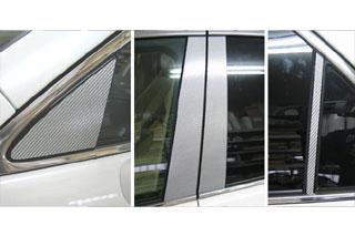 トヨタ クラウン マジカルカーボン ピラーセット ガンメタ GRS180系 ゼロクラウン(2003/11~2008/1)