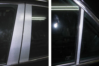 トヨタ マークX マジカルカーボン ピラーセット ノーマルタイプ レッド GRX120系 マークX(2004/11~2006/9)