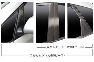 トヨタ プリウス マジカルカーボン ピラーセット スタンダードタイプ レッド NHW20系 プリウス(2003/9~2009/5)