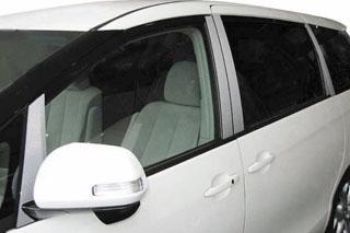 トヨタ エスティマ マジカルカーボン ピラーセット バイザーカットタイプ ガンメタ ACR/GSR50系 エスティマ(2006/1~2015/5)