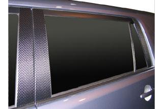 トヨタ カローラルミオン マジカルカーボン ピラーセット バイザーカットタイプ ガンメタ ZRE/NZE150N系 カローラルミオン(2007/10~)