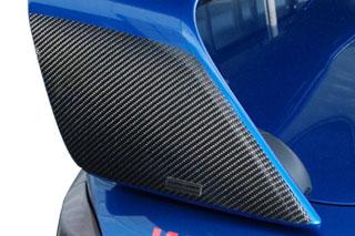 三菱 ランサー マジカルカーボン リアウィングセット ブルー CZ4A ランサーエヴォリューションX(2007/10~)