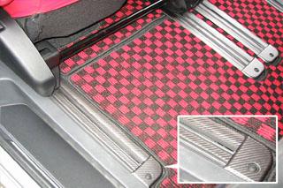 三菱 デリカD:5 マジカルアートレザー シートレールガード ブラック CV5W デリカD:5 (2007.1~)