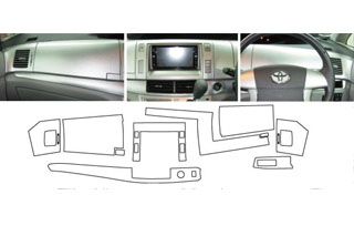 トヨタ エスティマ マジカルアートレザー インナーパネルセット レッド AHR-20W エスティマハイブリッド (2006.6~2008.11)