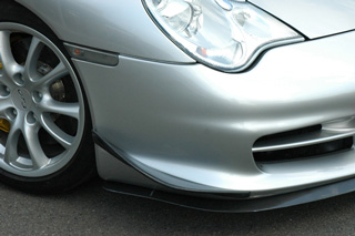 Last part of canard FRP Porsche 996 GT3 model for the ARK TECH (arc  technical center) GT3 bumper